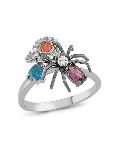 Piano Jewellery Maman Örümcek Altın Yüzük 14 Ayar Gümüş